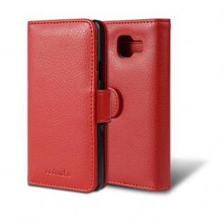 Cadorabo Hülle für Samsung Galaxy A3 2016 in INFERNO ROT ? Handyhülle mit Magnetverschluss und 3 Kartenfächern ? Case Cover Schutzhülle Etui Tasche Book Klapp Style