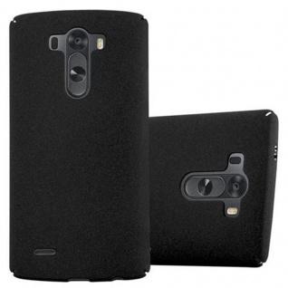 Cadorabo Hülle für LG G3 in FROSTY SCHWARZ - Hardcase Handyhülle aus Plastik gegen Kratzer und Stöße - Schutzhülle Bumper Ultra Slim Back Case Hard Cover