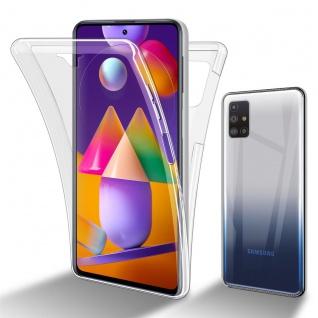 Cadorabo Hülle kompatibel mit Samsung Galaxy M31s in TRANSPARENT - 360° Full Body Handyhülle Front und Rückenschutz Rundumschutz Schutzhülle mit Displayschutz