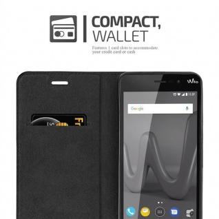 Cadorabo Hülle für WIKO LENNY 4 in NACHT SCHWARZ - Handyhülle mit Magnetverschluss, Standfunktion und Kartenfach - Case Cover Schutzhülle Etui Tasche Book Klapp Style - Vorschau 5