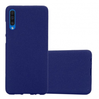 Cadorabo Hülle für Samsung Galaxy A50 in FROST DUNKEL BLAU Handyhülle aus flexiblem TPU Silikon Silikonhülle Schutzhülle Ultra Slim Soft Back Cover Case Bumper