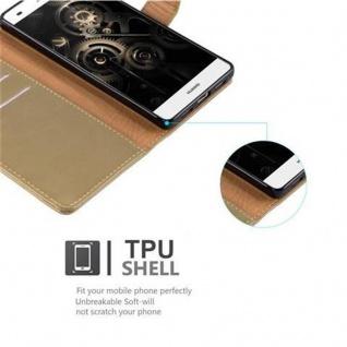Cadorabo Hülle für Huawei P8 LITE 2015 in CAPPUCCINO BRAUN ? Handyhülle mit Magnetverschluss, Standfunktion und Kartenfach ? Case Cover Schutzhülle Etui Tasche Book Klapp Style - Vorschau 3