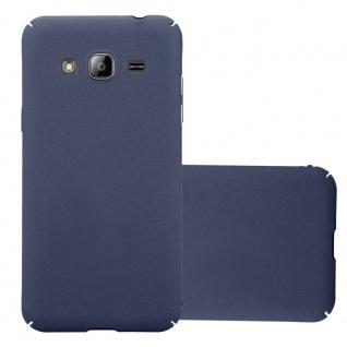 Cadorabo Hülle für Samsung Galaxy J3 / J3 DUOS 2016 in FROSTY BLAU Hardcase Handyhülle aus Plastik gegen Kratzer und Stöße Schutzhülle Bumper Ultra Slim Back Case Hard Cover