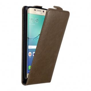 Cadorabo Hülle für Samsung Galaxy S6 EDGE PLUS in KAFFEE BRAUN - Handyhülle im Flip Design mit unsichtbarem Magnetverschluss - Case Cover Schutzhülle Etui Tasche Book Klapp Style