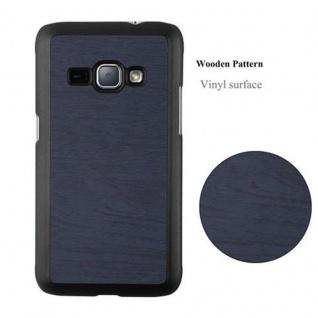 Cadorabo Hülle für Samsung Galaxy J1 2016 in WOODY BLAU ? Hardcase Handyhülle aus Plastik gegen Kratzer und Stöße ? Schutzhülle Bumper Ultra Slim Back Case Hard Cover - Vorschau 2
