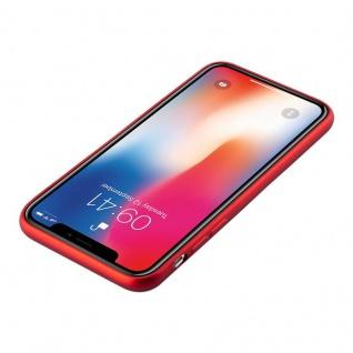 Cadorabo Hülle für Apple iPhone X / XS in METALLIC ROT - Handyhülle aus flexiblem TPU Silikon - Silikonhülle Schutzhülle Ultra Slim Soft Back Cover Case Bumper - Vorschau 2