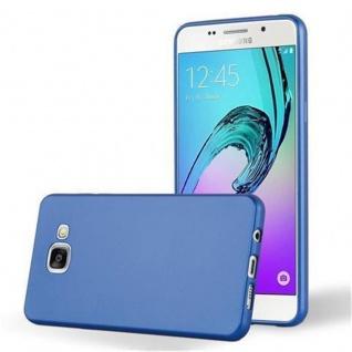 Cadorabo Hülle für Samsung Galaxy A5 2016 in METALLIC BLAU - Handyhülle aus flexiblem TPU Silikon - Silikonhülle Schutzhülle Ultra Slim Soft Back Cover Case Bumper