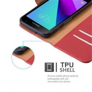 Cadorabo Hülle für Samsung Galaxy Xcover 4 in WEIN ROT ? Handyhülle mit Magnetverschluss, Standfunktion und Kartenfach ? Case Cover Schutzhülle Etui Tasche Book Klapp Style - Vorschau 3