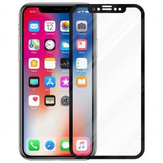 Cadorabo Vollbild Panzer Folie für Apple iPhone X / XS - Schutzfolie in TRANSPARENT mit SCHWARZ - Gehärtetes (Tempered) Display-Schutzglas in 9H Härte mit 3D Touch Kompatibilität - Vorschau 2