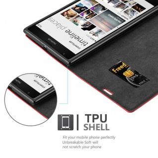 Cadorabo Hülle für Nokia Lumia 1520 in APFEL ROT - Handyhülle mit Magnetverschluss, Standfunktion und Kartenfach - Case Cover Schutzhülle Etui Tasche Book Klapp Style - Vorschau 2