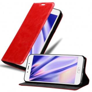 Cadorabo Hülle für ZTE Nubia N2 in APFEL ROT - Handyhülle mit Magnetverschluss, Standfunktion und Kartenfach - Case Cover Schutzhülle Etui Tasche Book Klapp Style