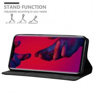 Cadorabo Hülle für Huawei MATE 20 PRO in NACHT SCHWARZ - Handyhülle mit Magnetverschluss, Standfunktion und Kartenfach - Case Cover Schutzhülle Etui Tasche Book Klapp Style - Vorschau 4
