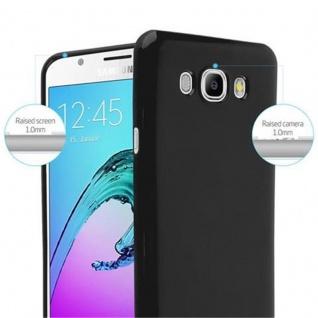 Cadorabo Hülle für Samsung Galaxy J7 2015 in JELLY SCHWARZ - Handyhülle aus flexiblem TPU Silikon - Silikonhülle Schutzhülle Ultra Slim Soft Back Cover Case Bumper - Vorschau 5