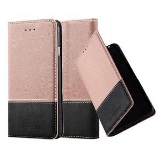 Cadorabo Hülle für Apple iPhone 6 / iPhone 6S in ROSÉ GOLD SCHWARZ ? Handyhülle mit Magnetverschluss, Standfunktion und Kartenfach ? Case Cover Schutzhülle Etui Tasche Book Klapp Style