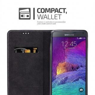 Cadorabo Hülle für Samsung Galaxy NOTE 4 in BLAU BRAUN ? Handyhülle mit Magnetverschluss, Standfunktion und Kartenfach ? Case Cover Schutzhülle Etui Tasche Book Klapp Style - Vorschau 5