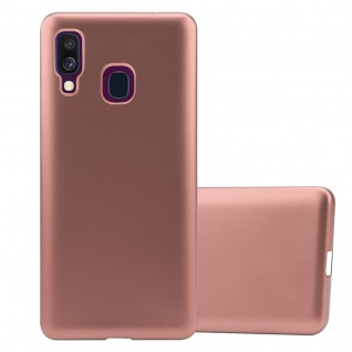 Cadorabo Hülle für Samsung Galaxy A40 in METALLIC ROSÉ GOLD - Handyhülle aus flexiblem TPU Silikon - Silikonhülle Schutzhülle Ultra Slim Soft Back Cover Case Bumper