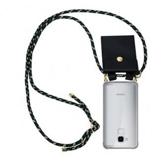 Cadorabo Handy Kette für Honor 5C in CAMOUFLAGE - Silikon Necklace Umhänge Hülle mit Gold Ringen, Kordel Band Schnur und abnehmbarem Etui ? Schutzhülle