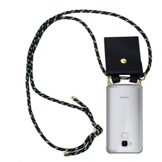 Cadorabo Handy Kette für Honor 5C in CAMOUFLAGE Silikon Necklace Umhänge Hülle mit Gold Ringen, Kordel Band Schnur und abnehmbarem Etui Schutzhülle