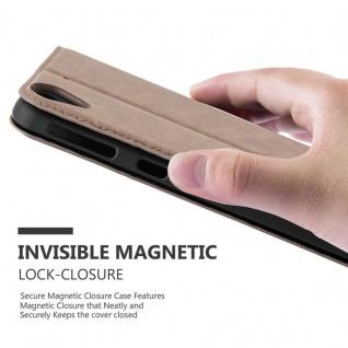 Cadorabo Hülle für HTC DESIRE 530 / 630 in KAFFEE BRAUN - Handyhülle mit Magnetverschluss, Standfunktion und Kartenfach - Case Cover Schutzhülle Etui Tasche Book Klapp Style - Vorschau 5