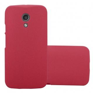Cadorabo Hülle für Motorola MOTO Z2 in FROSTY ROT Hardcase Handyhülle aus Plastik gegen Kratzer und Stöße Schutzhülle Bumper Ultra Slim Back Case Hard Cover