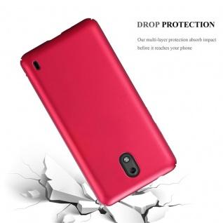 Cadorabo Hülle für Nokia 2 2017 in METALL ROT ? Hardcase Handyhülle aus Plastik gegen Kratzer und Stöße ? Schutzhülle Bumper Ultra Slim Back Case Hard Cover - Vorschau 3