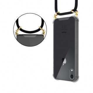 Cadorabo Handy Kette für Apple iPhone XR in SCHWARZ ? Silikon Necklace Umhänge Hülle mit Gold Ringen, Kordel Band Schnur und abnehmbarem Etui ? Schutzhülle - Vorschau 5