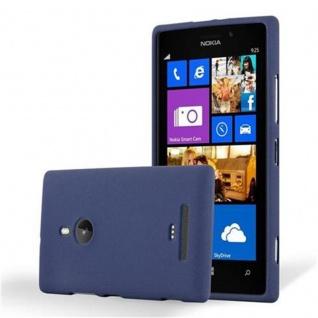 Cadorabo Hülle für Nokia Lumia 925 in FROST DUNKEL BLAU - Handyhülle aus flexiblem TPU Silikon - Silikonhülle Schutzhülle Ultra Slim Soft Back Cover Case Bumper