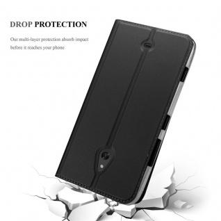 Cadorabo Hülle für Nokia Lumia 1320 in CLASSY SCHWARZ - Handyhülle mit Magnetverschluss, Standfunktion und Kartenfach - Case Cover Schutzhülle Etui Tasche Book Klapp Style - Vorschau 5