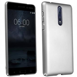 Cadorabo Hülle für Nokia 8 2017 in METALL SILBER ? Hardcase Handyhülle aus Plastik gegen Kratzer und Stöße ? Schutzhülle Bumper Ultra Slim Back Case Hard Cover