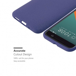Cadorabo Hülle für HTC ONE M10 in FROST DUNKEL BLAU - Handyhülle aus flexiblem TPU Silikon - Silikonhülle Schutzhülle Ultra Slim Soft Back Cover Case Bumper - Vorschau 3