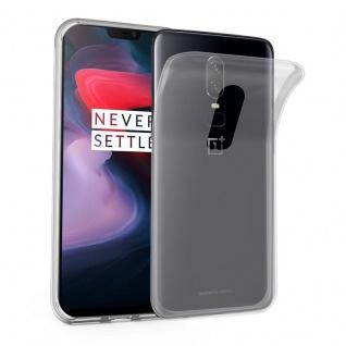 Cadorabo Hülle für OnePlus 6 in VOLL TRANSPARENT - Handyhülle aus flexiblem TPU Silikon - Silikonhülle Schutzhülle Ultra Slim Soft Back Cover Case Bumper