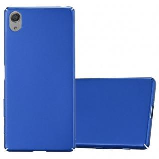 Cadorabo Hülle für Sony Xperia X in METALL BLAU ? Hardcase Handyhülle aus Plastik gegen Kratzer und Stöße ? Schutzhülle Bumper Ultra Slim Back Case Hard Cover