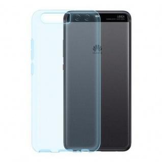 Cadorabo Hülle für Huawei P10 PLUS - Hülle in TRANSPARENT BLAU ? Handyhülle aus TPU Silikon im Ultra Slim 'AIR' Design - Ultra Slim Soft Backcover Case Bumper