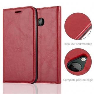 Cadorabo Hülle für HTC U PLAY in APFEL ROT Handyhülle mit Magnetverschluss, Standfunktion und Kartenfach Case Cover Schutzhülle Etui Tasche Book Klapp Style - Vorschau 2