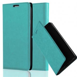 Cadorabo Hülle für Huawei Honor 5X / Play 5X / Huawei GR5 in PETROL TÜRKIS - Handyhülle mit Magnetverschluss, Standfunktion und Kartenfach - Case Cover Schutzhülle Etui Tasche Book Klapp Style