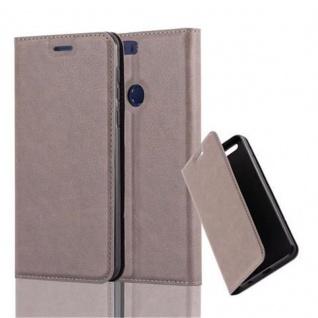 Cadorabo Hülle für Honor 8 in KAFFEE BRAUN - Handyhülle mit Magnetverschluss, Standfunktion und Kartenfach - Case Cover Schutzhülle Etui Tasche Book Klapp Style