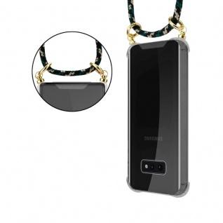 Cadorabo Handy Kette für Samsung Galaxy S10e in CAMOUFLAGE ? Silikon Necklace Umhänge Hülle mit Gold Ringen, Kordel Band Schnur und abnehmbarem Etui ? Schutzhülle - Vorschau 2