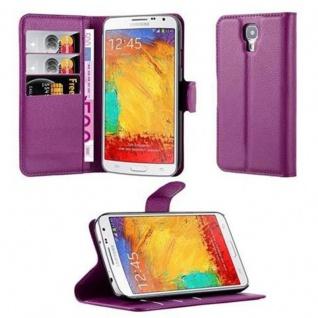 Cadorabo Hülle für Samsung Galaxy NOTE 3 NEO in MANGAN VIOLETT Handyhülle mit Magnetverschluss, Standfunktion und Kartenfach Case Cover Schutzhülle Etui Tasche Book Klapp Style