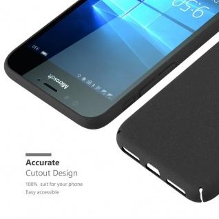 Cadorabo Hülle für Nokia Lumia 950 in FROSTY SCHWARZ - Hardcase Handyhülle aus Plastik gegen Kratzer und Stöße - Schutzhülle Bumper Ultra Slim Back Case Hard Cover - Vorschau 5