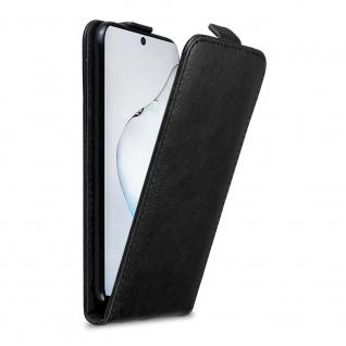 Cadorabo Hülle für Samsung Galaxy NOTE 10 in NACHT SCHWARZ Handyhülle im Flip Design mit Magnetverschluss Case Cover Schutzhülle Etui Tasche Book Klapp Style