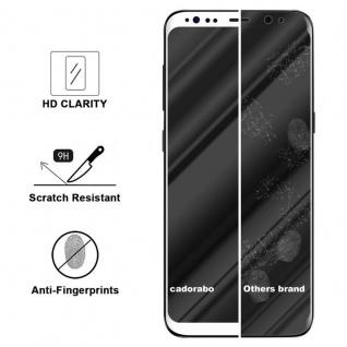 Cadorabo Vollbild Panzer Folie für Samsung Galaxy S8 - Schutzfolie in TRANSPARENT mit WEISS - Gehärtetes (Tempered) Display-Schutzglas in 9H Härte mit 3D Touch Kompatibilität - Vorschau 3