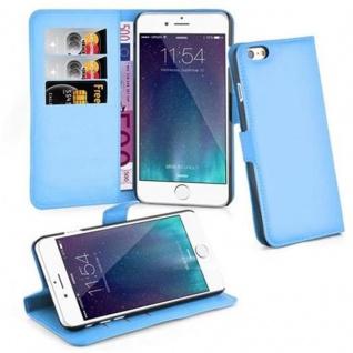 Cadorabo ! PREMIUM ? Book Style Hülle im Portemonnaie Design für Apple Iphone 6 PLUS mit Standfunktion in PASTEL-BLAU