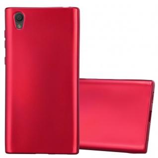 Cadorabo Hülle für Sony Xperia L1 in METALLIC ROT - Handyhülle aus flexiblem TPU Silikon - Silikonhülle Schutzhülle Ultra Slim Soft Back Cover Case Bumper