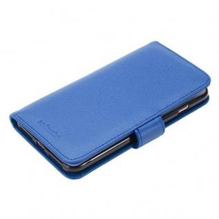 Cadorabo Hülle für Apple iPhone 8 PLUS / iPhone 7 PLUS / iPhone 7S PLUS in NEPTUN BLAU ? Handyhülle mit Magnetverschluss und 3 Kartenfächern ? Case Cover Schutzhülle Etui Tasche Book Klapp Style - Vorschau 5