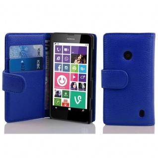Cadorabo Hülle für Nokia Lumia 630 / 635 in KÖNIGS BLAU Handyhülle aus strukturiertem Kunstleder mit Standfunktion und Kartenfach Case Cover Schutzhülle Etui Tasche Book Klapp Style