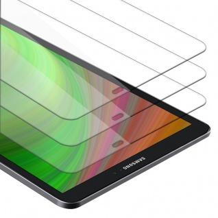 """Cadorabo 3x Panzer Folie für Samsung Galaxy Tab A 2016 (10.1"""" Zoll) SM-T585N / T580N Schutzfolie in KRISTALL KLAR 3er Pack Gehärtetes (Tempered) Display-Schutzglas in 9H Härte mit 3D Touch Kompatibilität"""