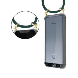 Cadorabo Handy Kette für Huawei P9 in ARMEE GRÜN - Silikon Necklace Umhänge Hülle mit Gold Ringen, Kordel Band Schnur und abnehmbarem Etui ? Schutzhülle - Vorschau 5