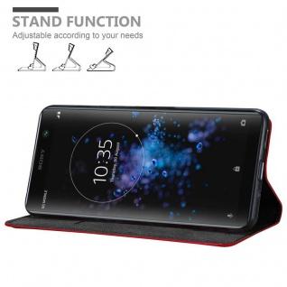 Cadorabo Hülle für Sony Xperia XA2 PLUS in APFEL ROT Handyhülle mit Magnetverschluss, Standfunktion und Kartenfach Case Cover Schutzhülle Etui Tasche Book Klapp Style - Vorschau 4
