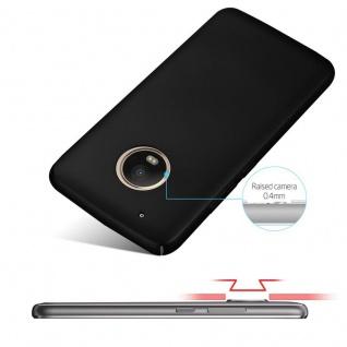 Cadorabo Hülle für Motorola MOTO G5 PLUS in METALL SCHWARZ - Hardcase Handyhülle aus Plastik gegen Kratzer und Stöße - Schutzhülle Bumper Ultra Slim Back Case Hard Cover - Vorschau 4