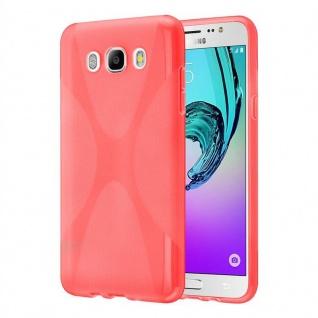 Cadorabo Hülle für Samsung Galaxy J7 2016 in INFERNO ROT - Handyhülle aus flexiblem TPU Silikon - Silikonhülle Schutzhülle Ultra Slim Soft Back Cover Case Bumper - Vorschau 4